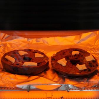 チョコとフルーツのベーグルサンドウィッチ 画像3