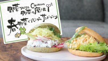 4月6日(木)・18日(火)野菜ソムリエCanacoさんと学ぶ!春野菜のベーグルサンドウィッチづくり 開催