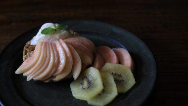 桃のせフレンチトースト