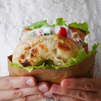 つぶつぶ夏野菜のさわやかサンド |  ベーグルレシピ 画像1