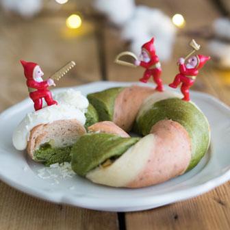 クリスマスベーグル ホワイトチョコディップ添え |  ベーグルレシピ 画像1