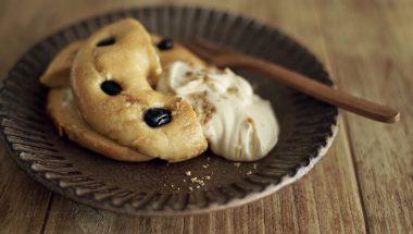 豆乳フレンチトースト ‐ 黒蜜豆腐クリーム添え ‐