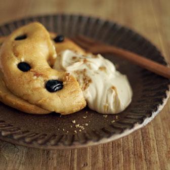 豆乳フレンチトースト ‐ 黒蜜豆腐クリーム添え ‐ |  ベーグルレシピ 画像1