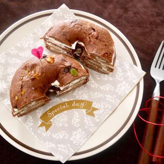 ガトーショコラ風 ベーグルケーキ 画像3