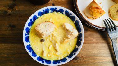 ひたベーグルで楽しむ♡カレー風味のミルクスープ