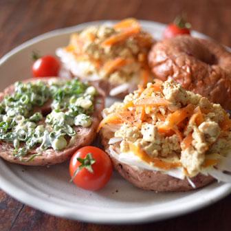 ネギマヨ&豆腐とお野菜のオープンサンド 画像1