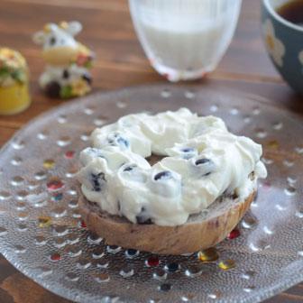 ブルーベリーとヨーグルトの美人サンド  |  ベーグルレシピ 画像1