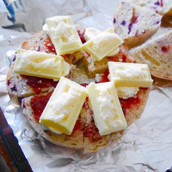 ナッツとベリーのスイートチーズサンドウィッチ 画像1