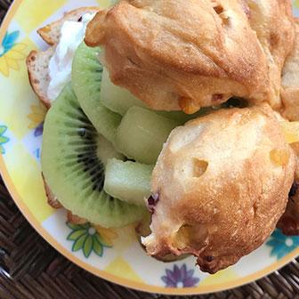 キウイ&メロンのヨーグルトサンドウィッチ  |  ベーグルレシピ 画像1