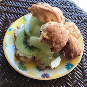 キウイ&メロンのヨーグルトサンドウィッチ  |  ベーグルレシピ 画像2